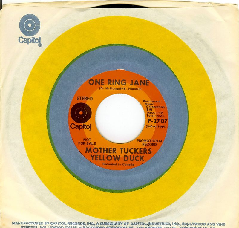 Mother Tucker's Yellow Duck One Ring Jane