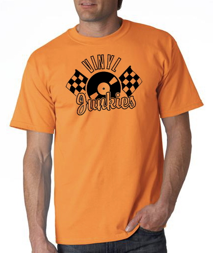 Vinyl Junkies front orange