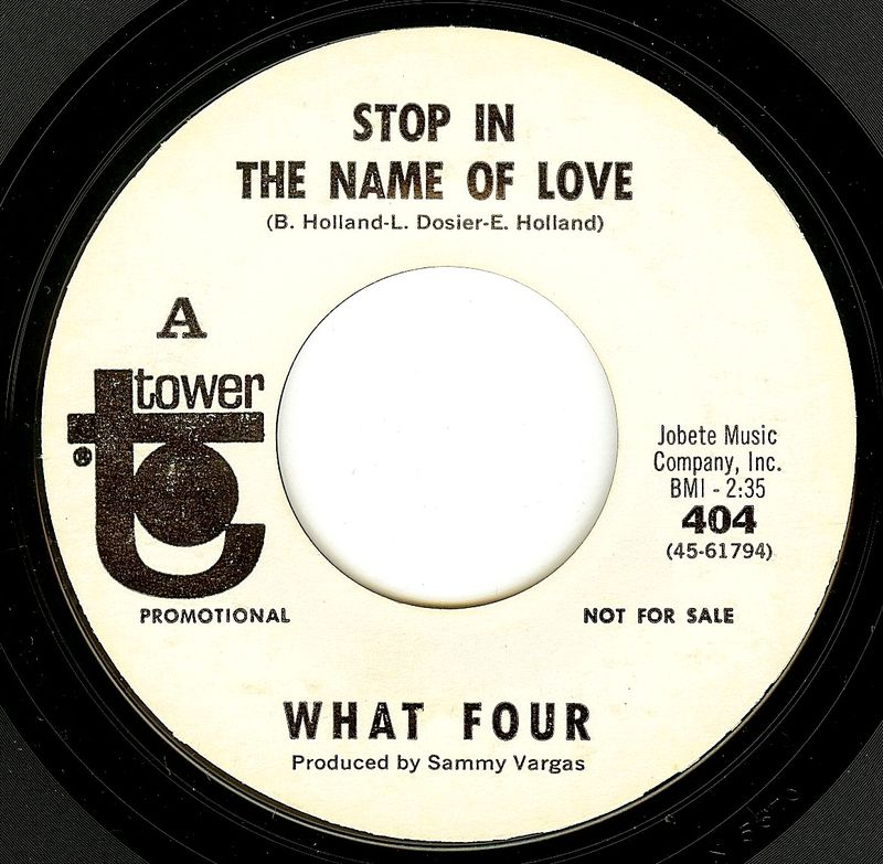 What four stop in the name of love
