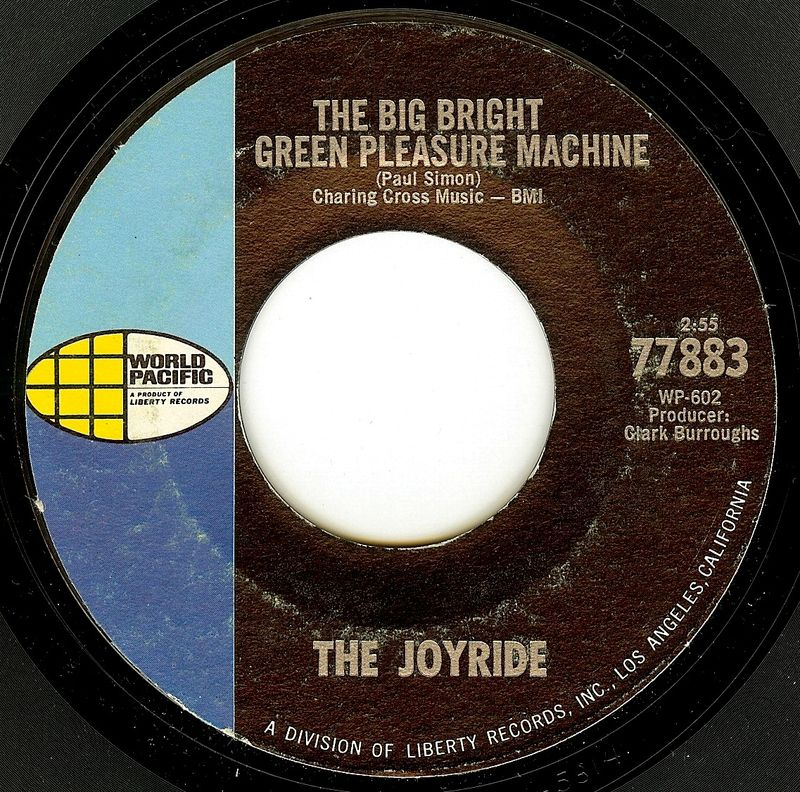 The joyride the big bright green pleasure machine